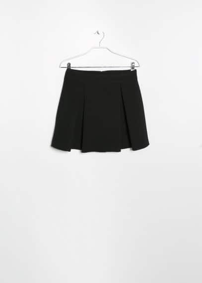 Pleated ponte skirt