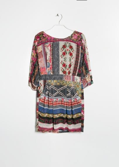 Scarf print chiffon dress