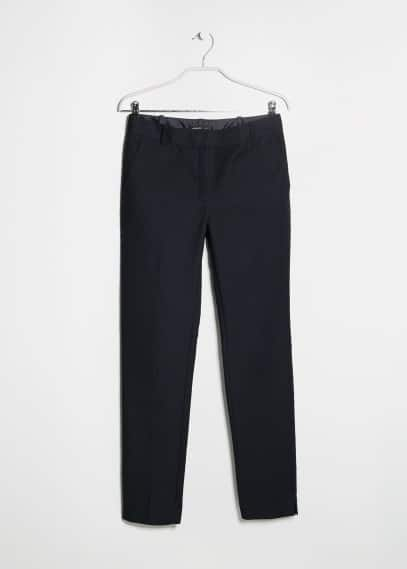 Leather waist trousers