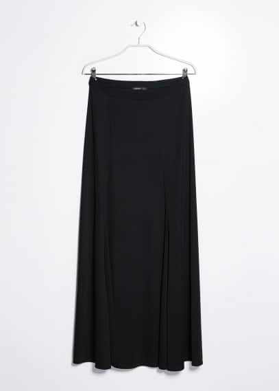Slit long skirt
