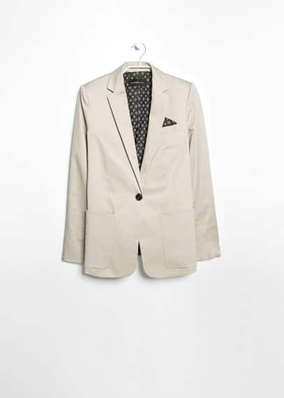 Pocket square blazer