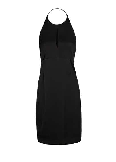 PREMIUM - Cut-out halter dress