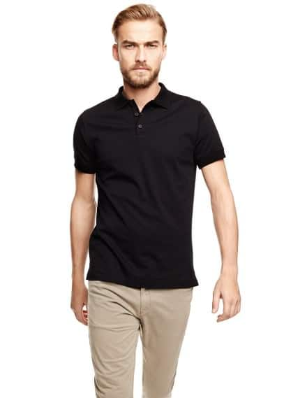 Basic katoenen polo