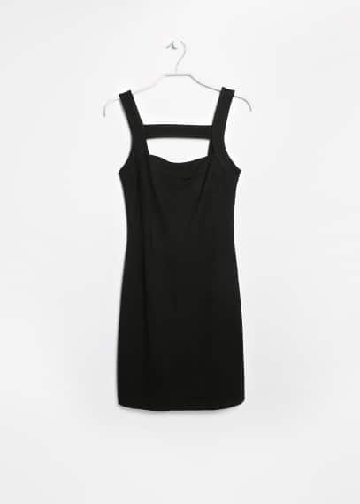 Cut-out strap dress