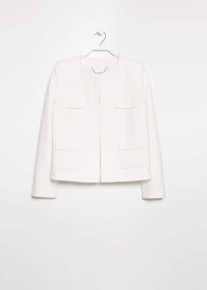Pocket textured jacket