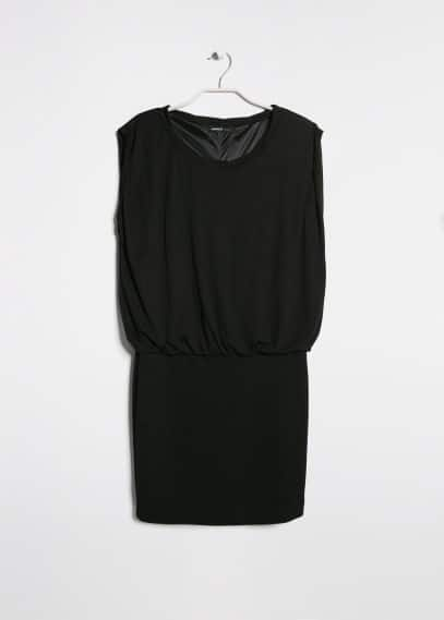 Contrast bodice dress