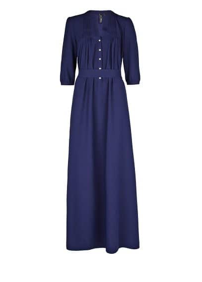 Crepe long shirt dress