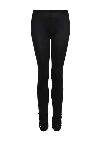 Ruched detail leggings