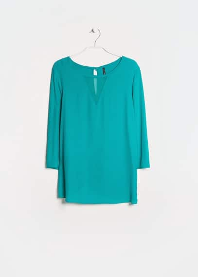 Chiffon panel blouse