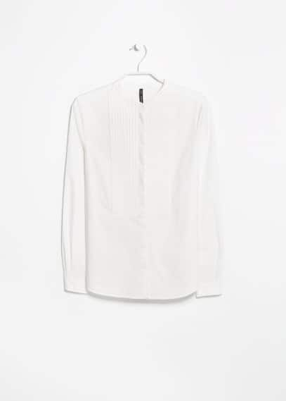 Bib detail shirt