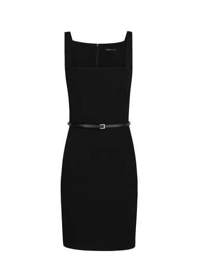 Square neckline dress