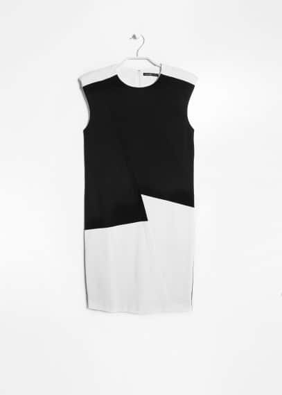 Monochrome ponte dress
