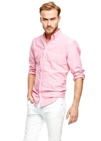 Camisa slim-fit Oxford