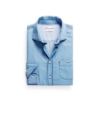 Chemise slim-fit chambray