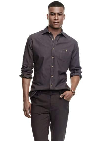 Slim-fit Oxford shirt