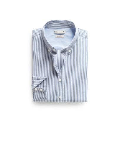 Camisa slim-fit riscas