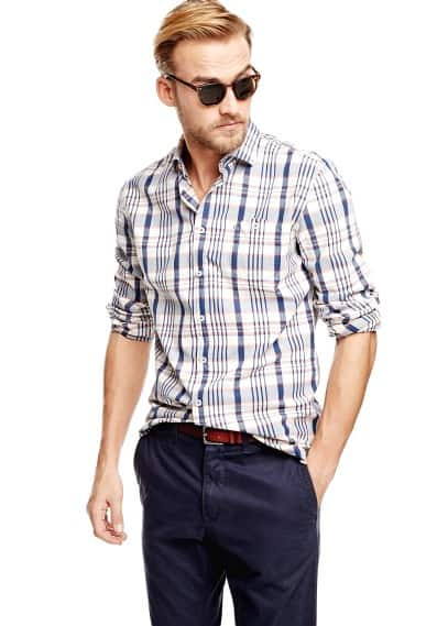 Camicia slim-fit quadri