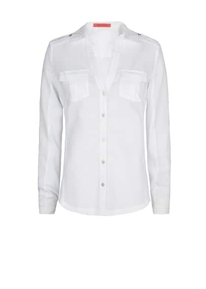 Ribbed panels shirt