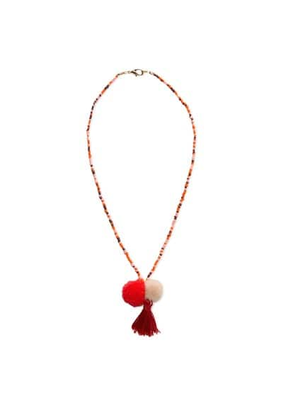 Pompom multicolor necklace
