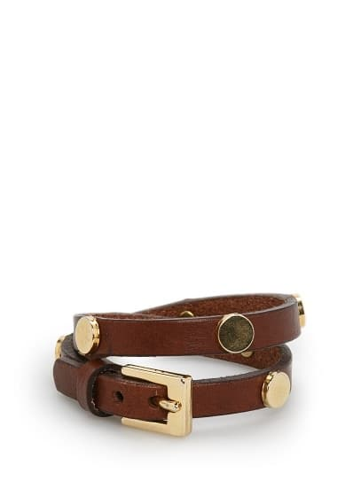 Appliqué leather bracelet