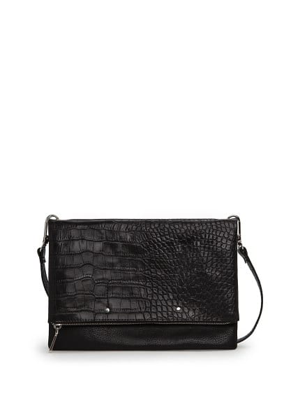 Sac plié crocodile