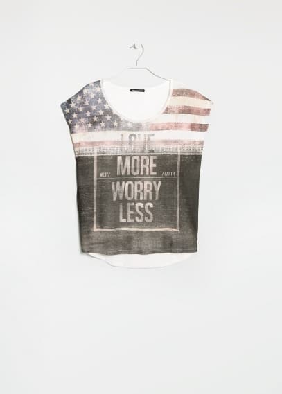 Love more worry less t-shirt