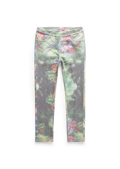 Leggings à imprimé tropical