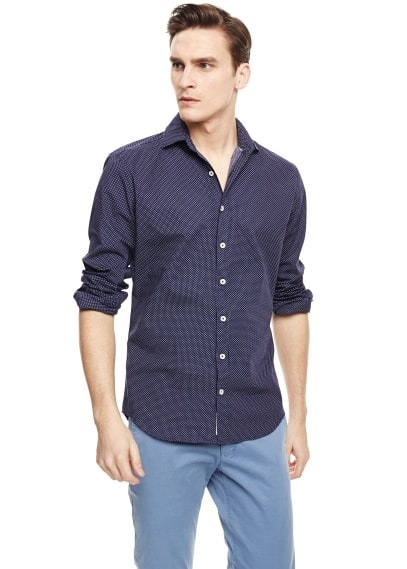 Camicia slim-fit pois