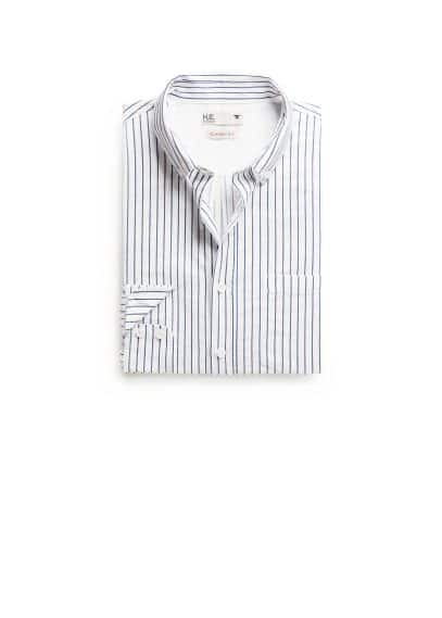 Classic-fit striped twill shirt