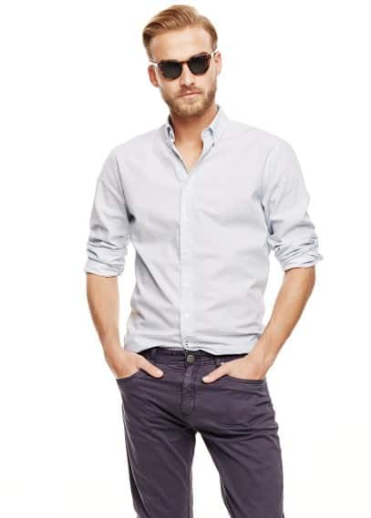 Camisa slim-fit topos
