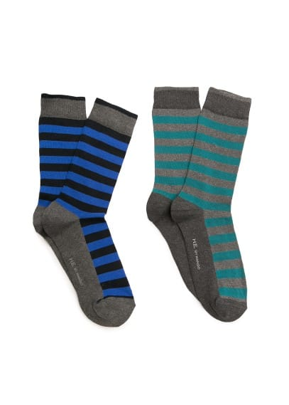 2 pack striped socks