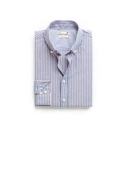 Slim-fit striped Oxford shirt