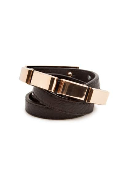 Metal piece belt
