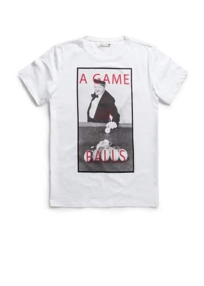 T-shirt met game print