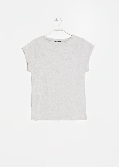 Rolled-up sleeve t-shirt