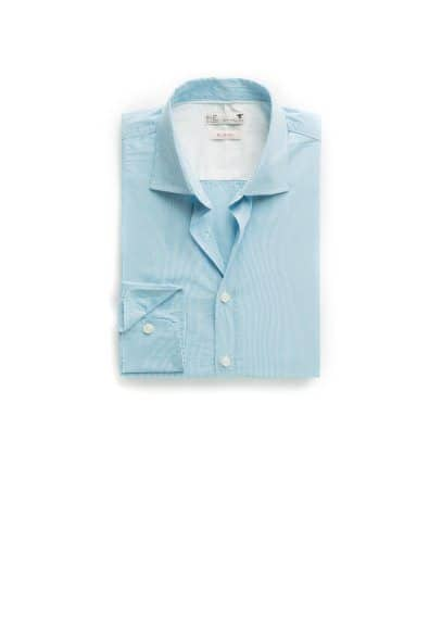 Slim-fit fine-stripe shirt
