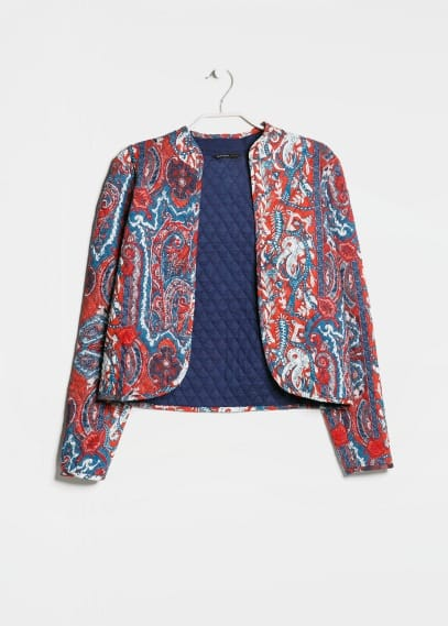 Paisley quilted jacket