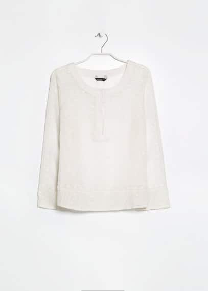Embroidered chiffon top