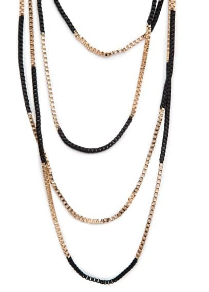 Bicolor multi chain necklace