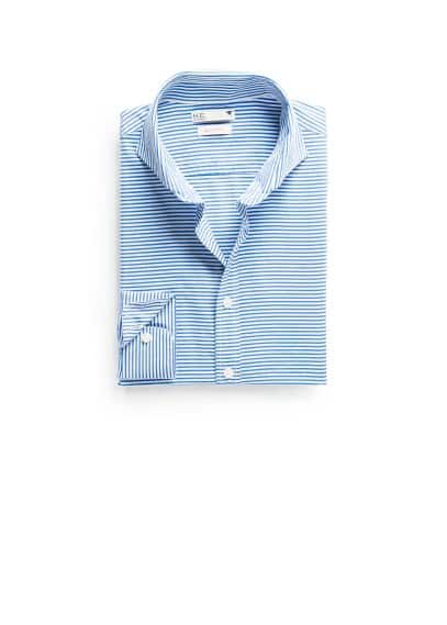 Camisa slim-fit riscas horizontais
