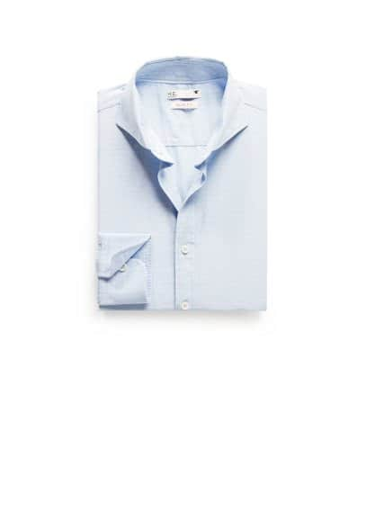 Slim-fit stripe textured shirt