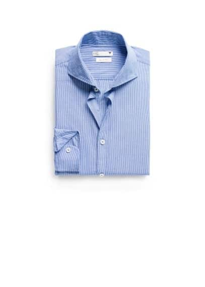 Slim-fit Oxford striped shirt