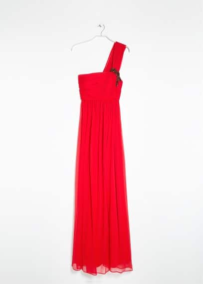 Asymmetric long dress
