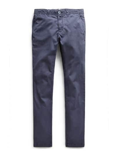 Spodnie chinos slim-fit garment-dyed