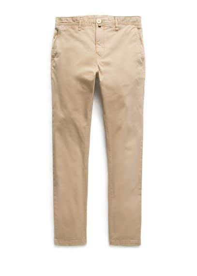 Garment-dyed slim-fit chino