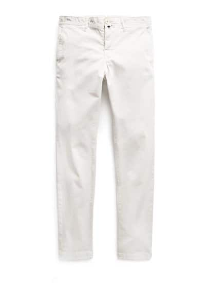 Pantalon chino slim-fit garment-dyed