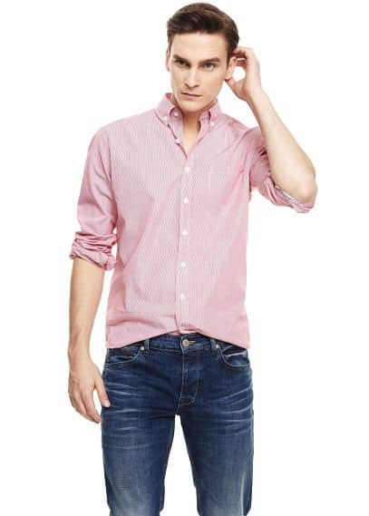 Classic-fit fine-stripe shirt