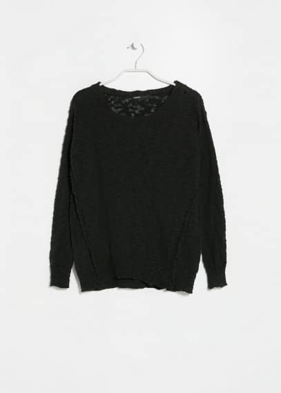 Pull-over coton flammé