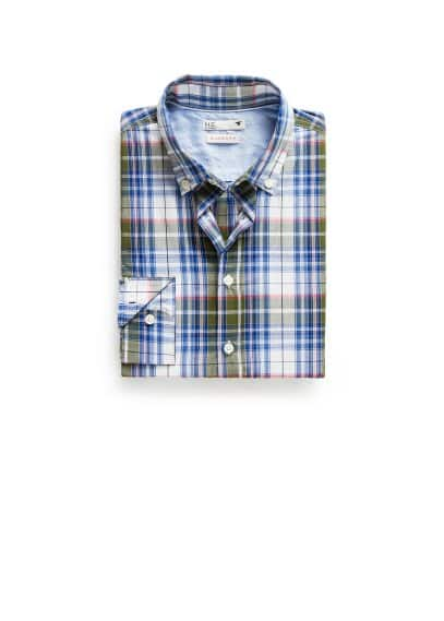 Camisa quadres tall clàssic