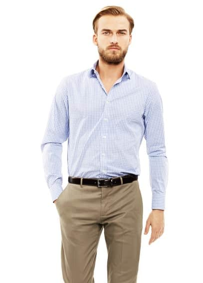 Slim-fit Premium gingham check shirt
